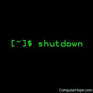 Linux shutdown command help and examples