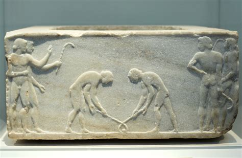 """File:Relief pentelic marble """"Ball Players"""" 510-500 BC"""