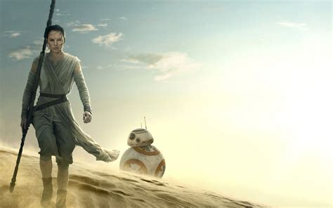 Star Wars The Force Awakens Rey BB 8 Wallpapers   HD