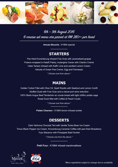 Enjoy a Special Dinner at Mezze by a Chef from a Michelin