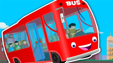 Wheels on the bus goes round and round | Kids Songs And