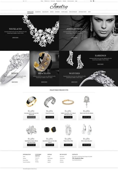 Jewelry Store OpenCart Websit Templates & Themes| Free