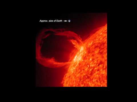 The large solar flare that swirled and twisted for 90