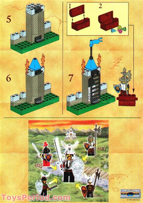LEGO 4817 Dungeon Set Parts Inventory and Instructions
