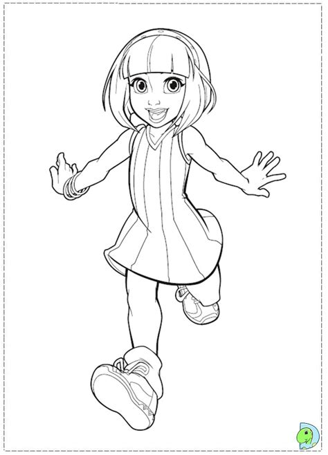 Lazy Town Coloring page- DinoKids