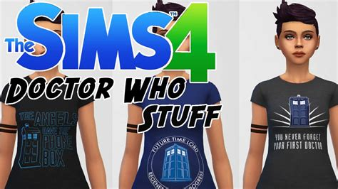 The Sims 4 | DOCTOR WHO MOD - Doctor Who Apparel (Shirts