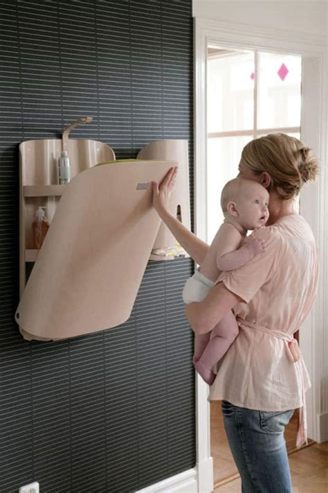Baby Furniture from Bybo: Space Saving Wall Mounted Baby