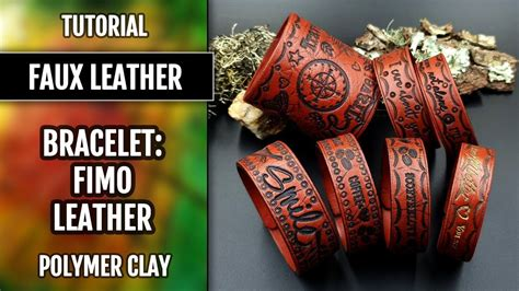 How to make: Faux Leather Bracelet from polymer clay Fimo