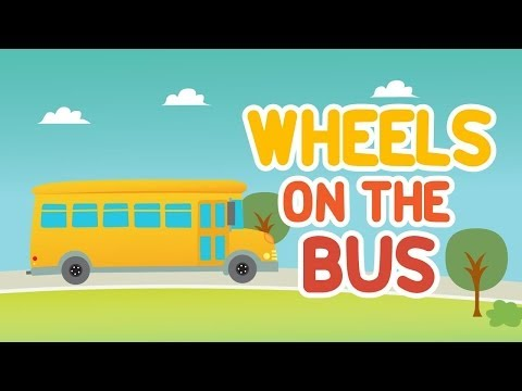 Wheels on the bus goes round and round | Nursery rhymes