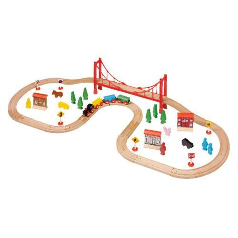 56 Piece Wooden Train Set from Tesco Direct