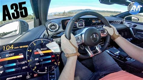 Mercedes amg a35 - thrilling race start acceleration of