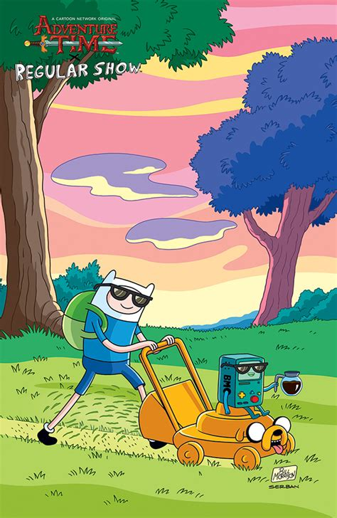 Adventure Time/Regular Show #2 Brings the Awesome   YAYOMG!