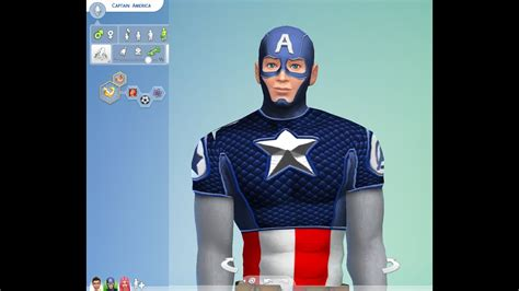 Captain America in The Sims 4 Mods - YouTube